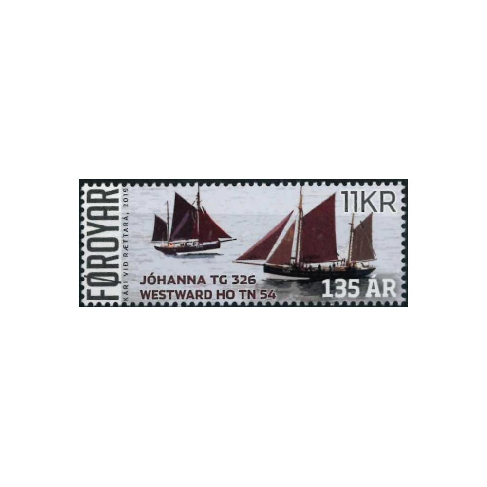 2019 Färöer postzegel   Zeilboten