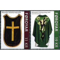 2019 Färöer postzegels | liturgische gewaden