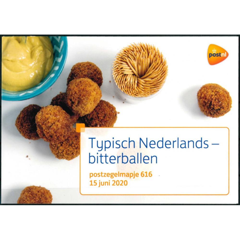 2020 Nederland postzegelmapje | Typisch Nederlands - Bitterballen
