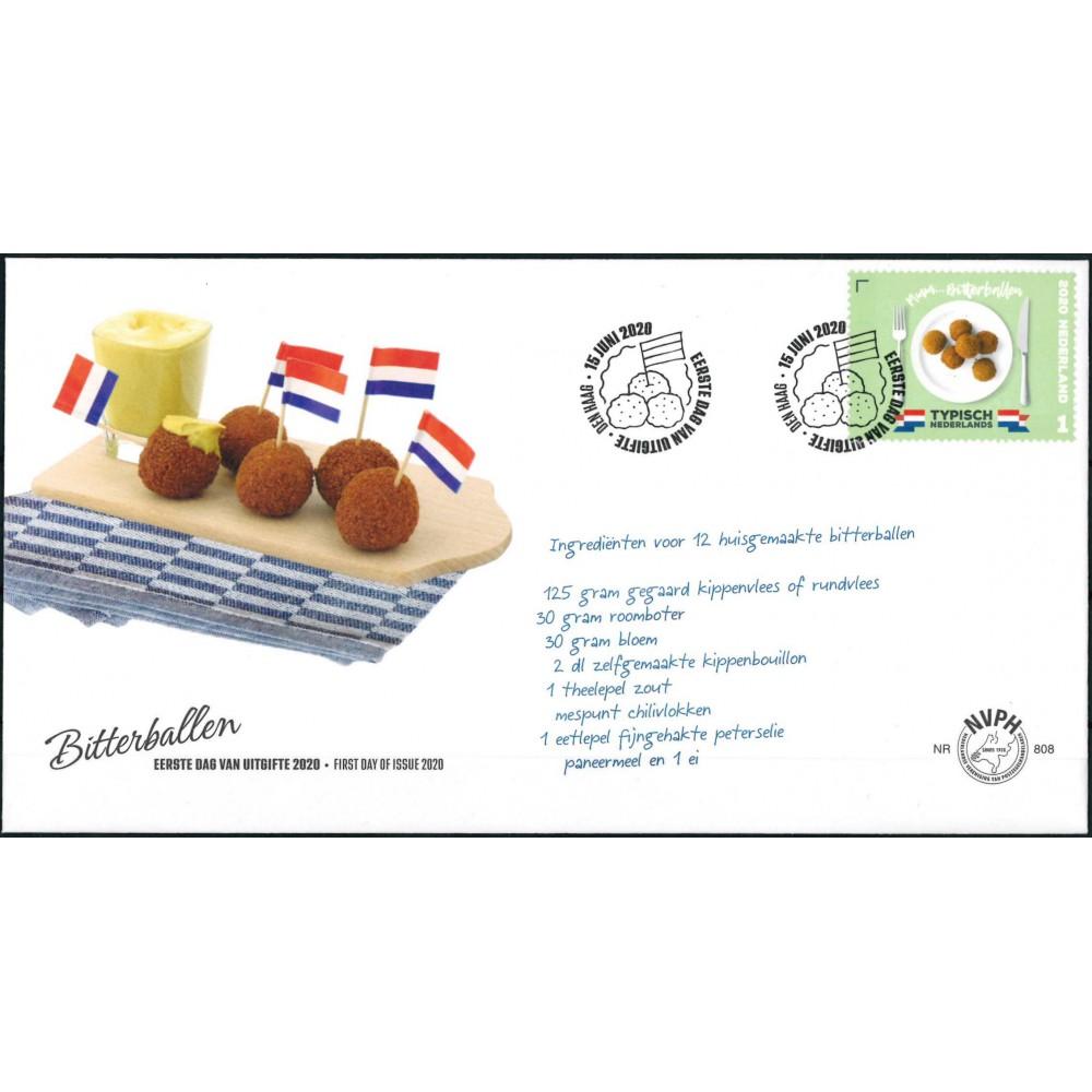 2020 Nederland FDC | Typisch Nederlands - Bitterballen