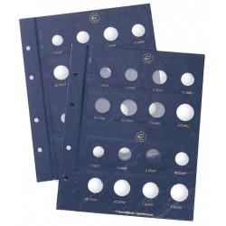 Leuchtturm VISTA aanvullingsbladen bundel voor 2 euromunten
