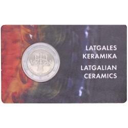 Letland 2 euro 2020 'Keramiek' BU-kwaliteit in coincard