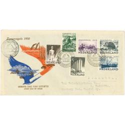 1950 Nederland FDC | Zomer met tekst