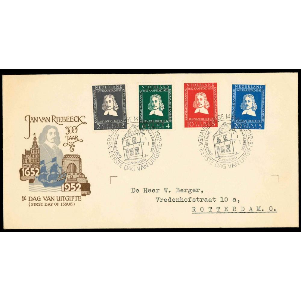 1952 Nederland FDC   van Riebeeck