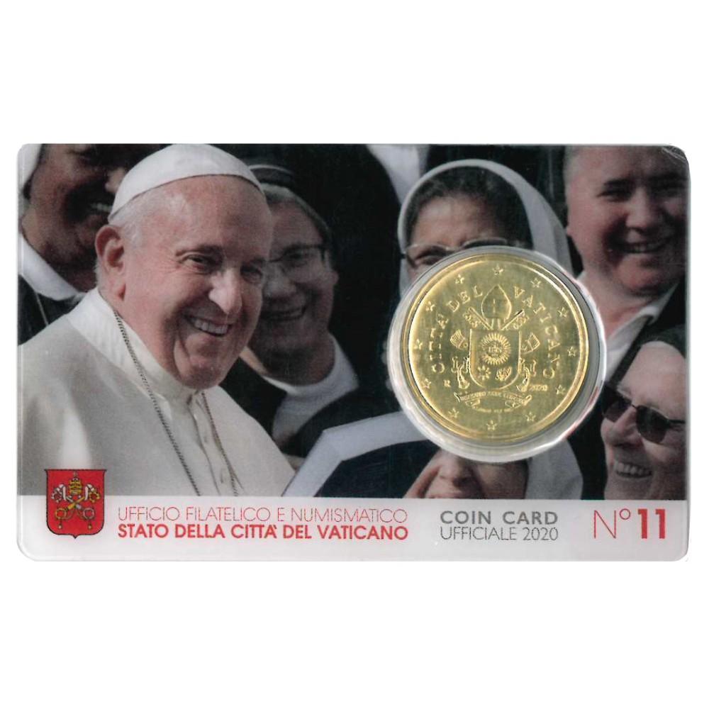 Vaticaan 50 cent 2020 in coincard nr. 11