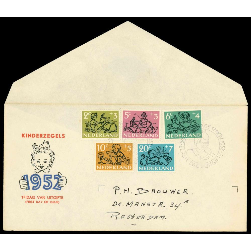 1952 Nederland FDC   Kind