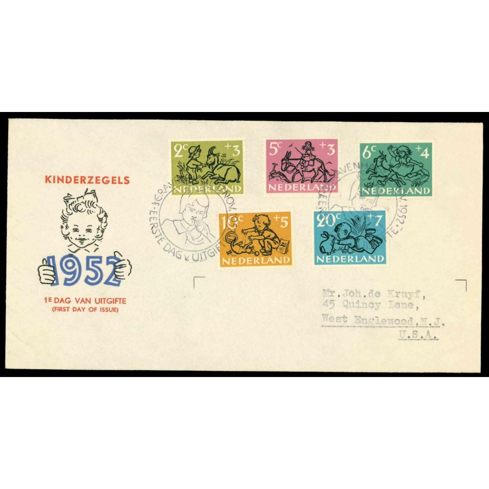 1952 Nederland FDC | Kind