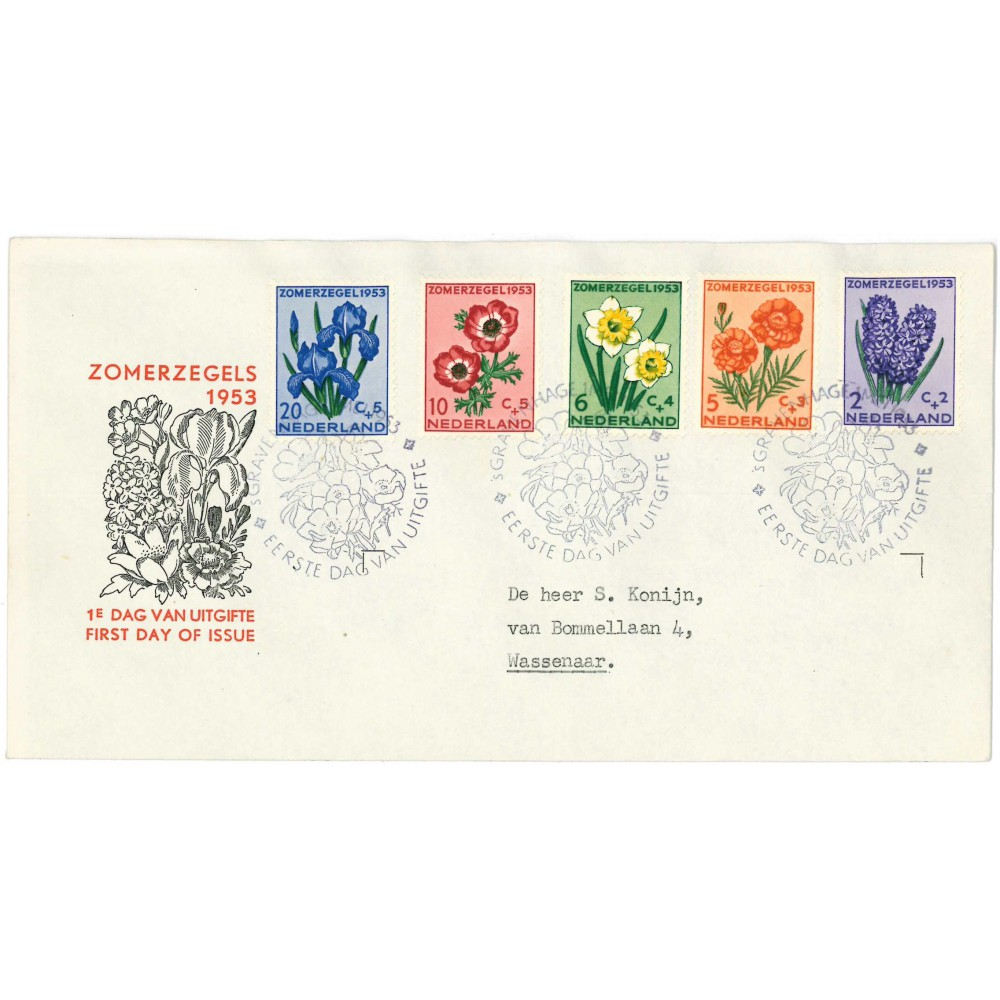1953 Nederland FDC   Zomer