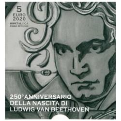 Vaticaan 5 Euro 2020 '250e verjaardag Beethoven-Proof'