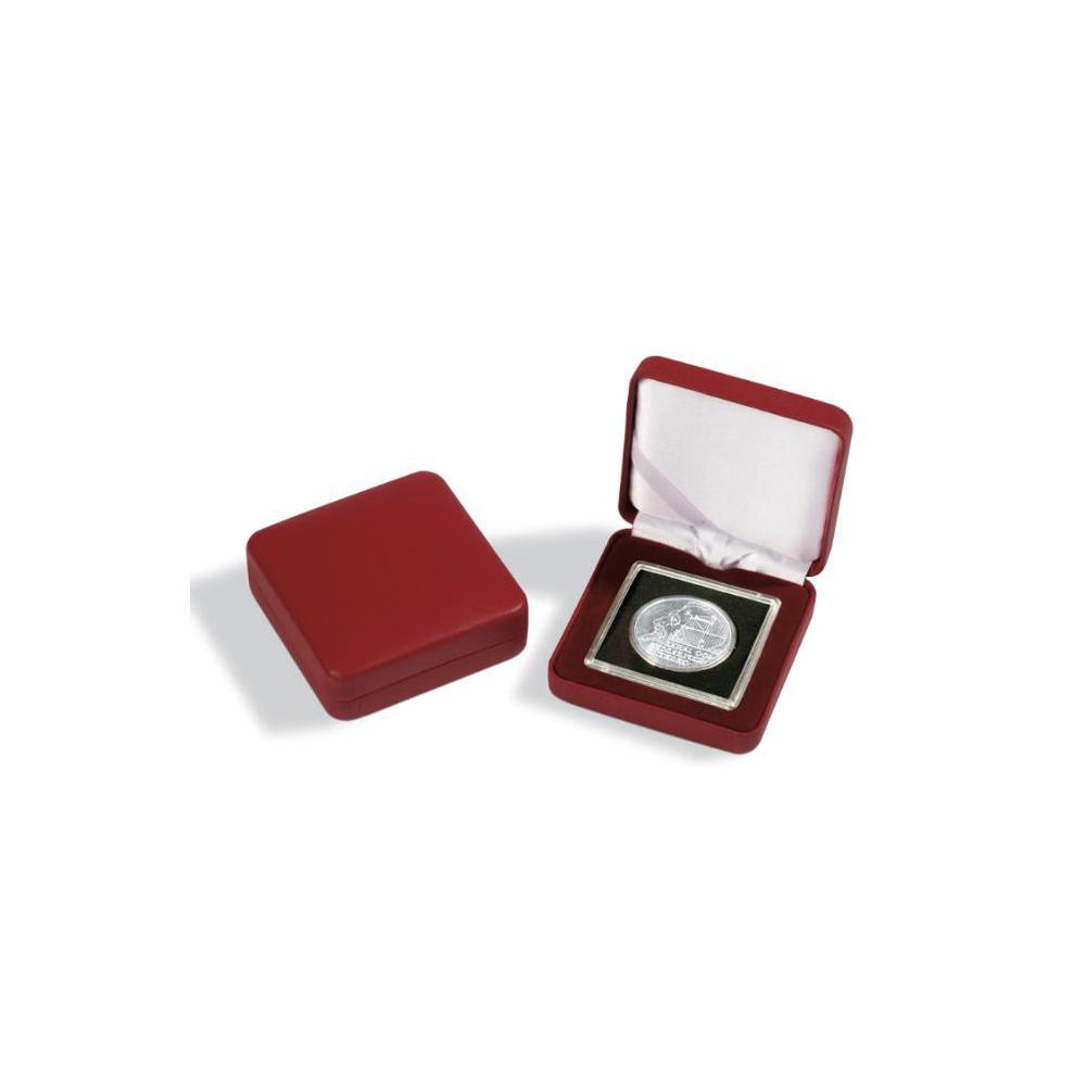 Muntenetui Nobile voor 1x Quadrum, rood 65 x 65 mm