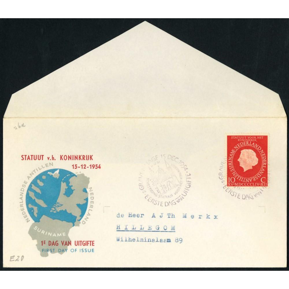 1954 Nederland FDC | Statuut