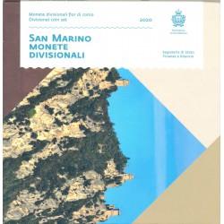 San Marino BU-set 2020 (Set zonder €5)