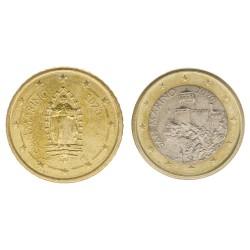 San Marino 1 euro en 50 cent 2020 circulatiemunt