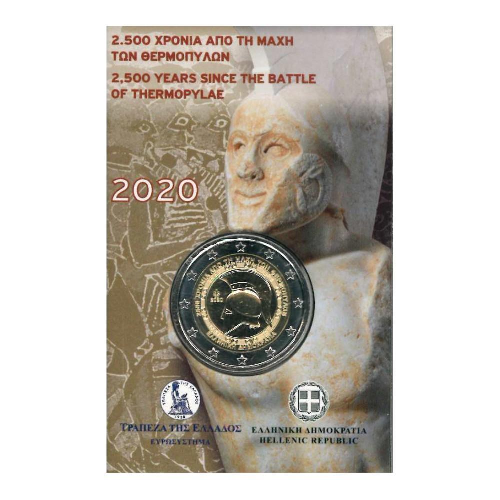 Griekenland Coincard 2 Euro 2020 'Slag bij Thermopylae'