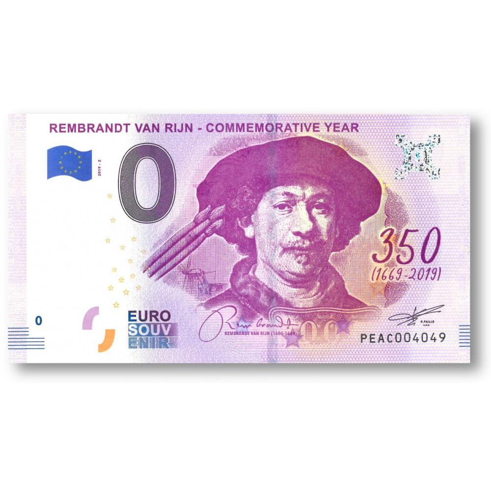 0 euro Nederland 2019 - 'Rembrandt van Rijn'