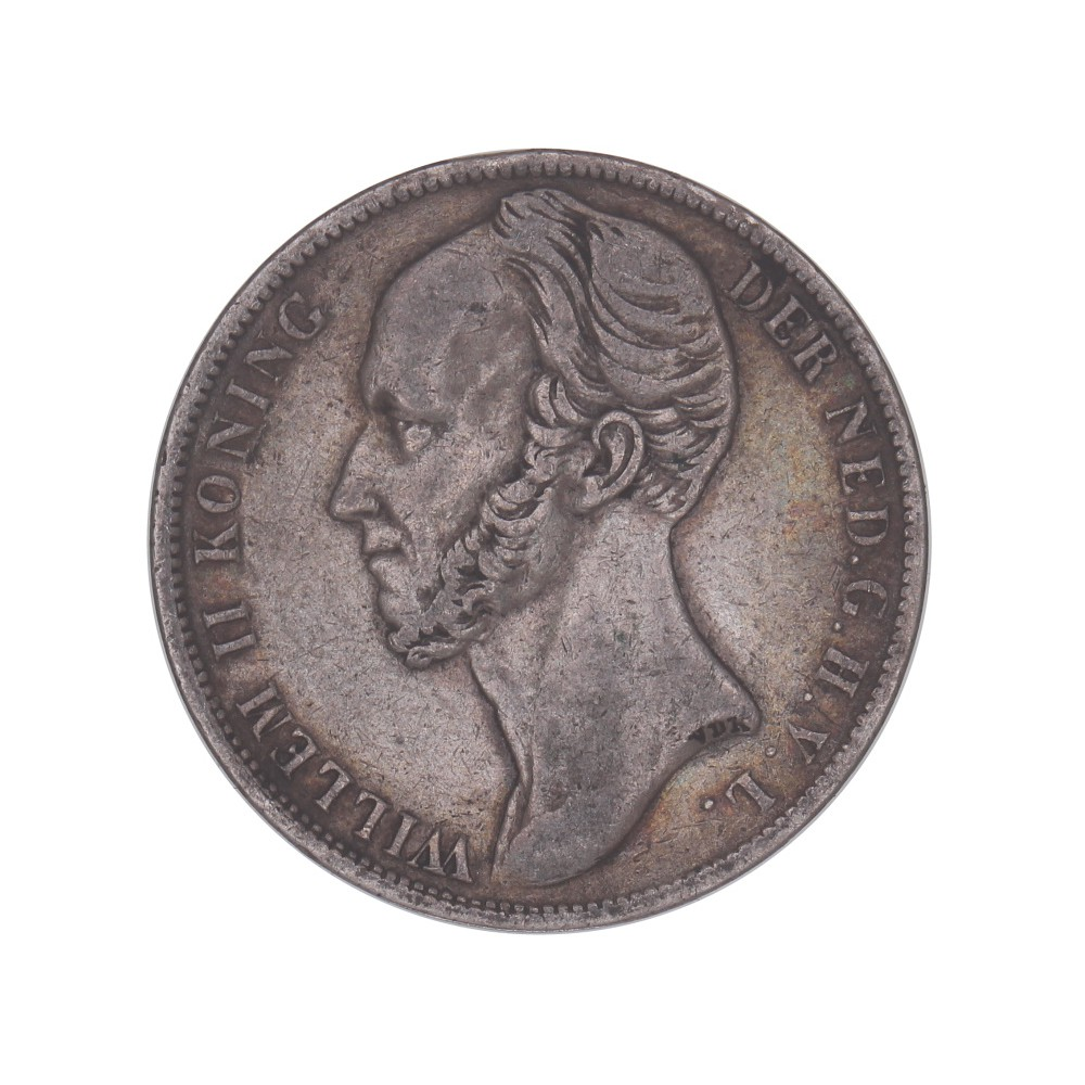 Koninkrijksmunten Nederland 1 Gulden Koning Willem II diverse jaren