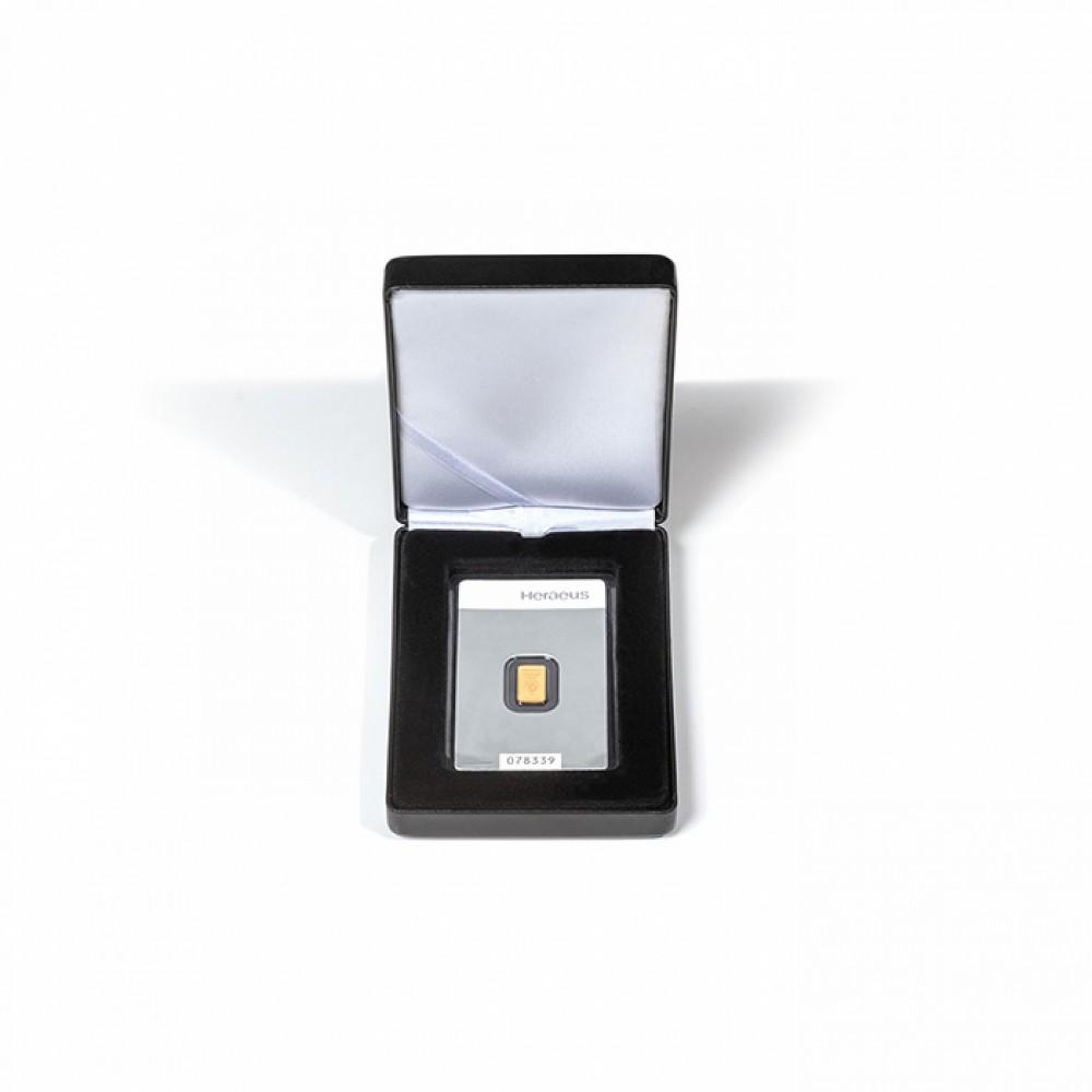 Leuchtturm Muntenetui Nobile voor 1x goudbaar/ 1x zilverbaar (86 x 54 mm)