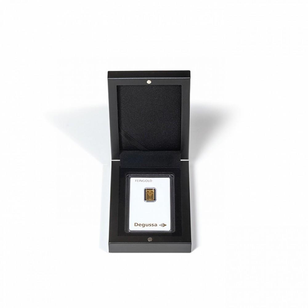 Leuchtturm Muntenetui Volterra voor 1x goudbaar/ 1x zilverbaar zwart (86 x 54 mm)