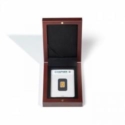 Leuchtturm Muntenetui Volterra voor 1x goudbaar/ 1x zilverbaar Mahonie (86 x 54 mm)