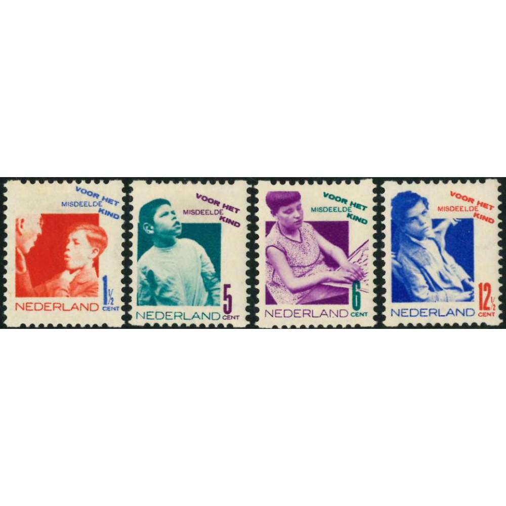 1931 Nederland Roltanding | Tweezijdige hoekroltanding