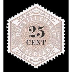 1877-1903 Nederland Telegramzegel | Zeshoekig formaat