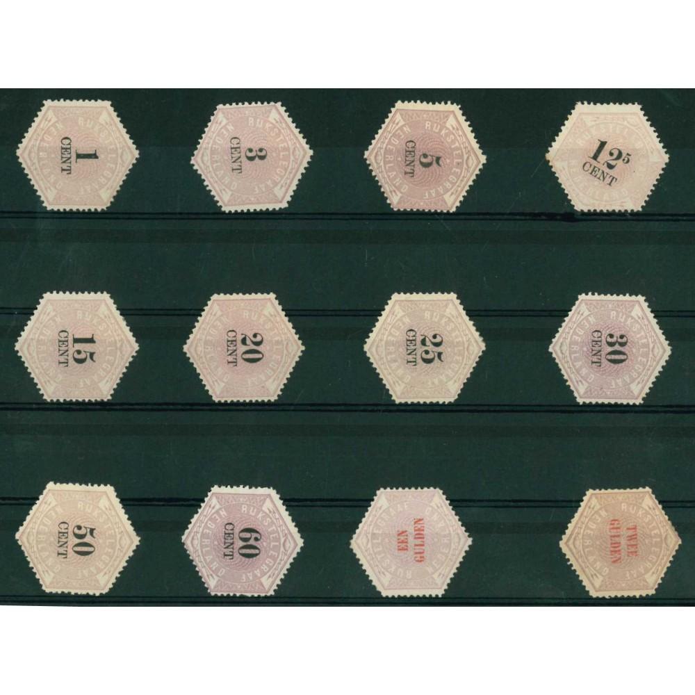 1877-1903 Nederland Telegramzegels | Zeshoekig formaat