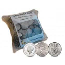 1 kilo netto zilveren guldens, rijksdaalders, tientjes Nederland