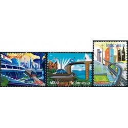 2018 Indonesië 3 postzegels   Emas