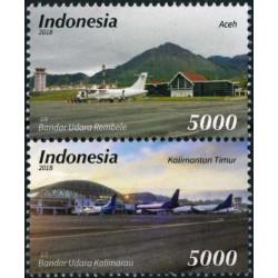 2018 Indonesië 2 postzegels   Luchtvaart