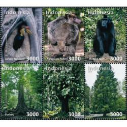 2018 Indonesië  postzegels   Flora en fauna