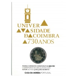 Portugal Coincard 2 Euro 2020 '730 Jaar Universiteit van Coimbra'