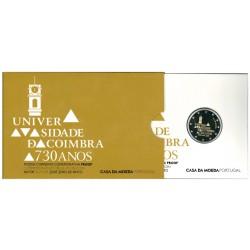 Portugal Coincard Proof 2 Euro 2020 '730 Jaar Universiteit van Coimbra'