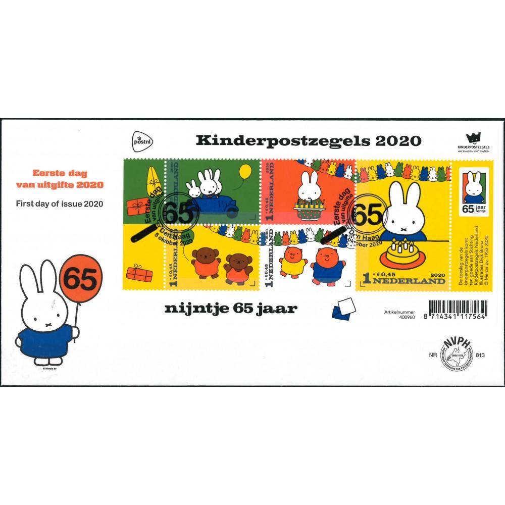 2020 Nederland FDC  Kinderpostzegels Nijntje 65 jaar