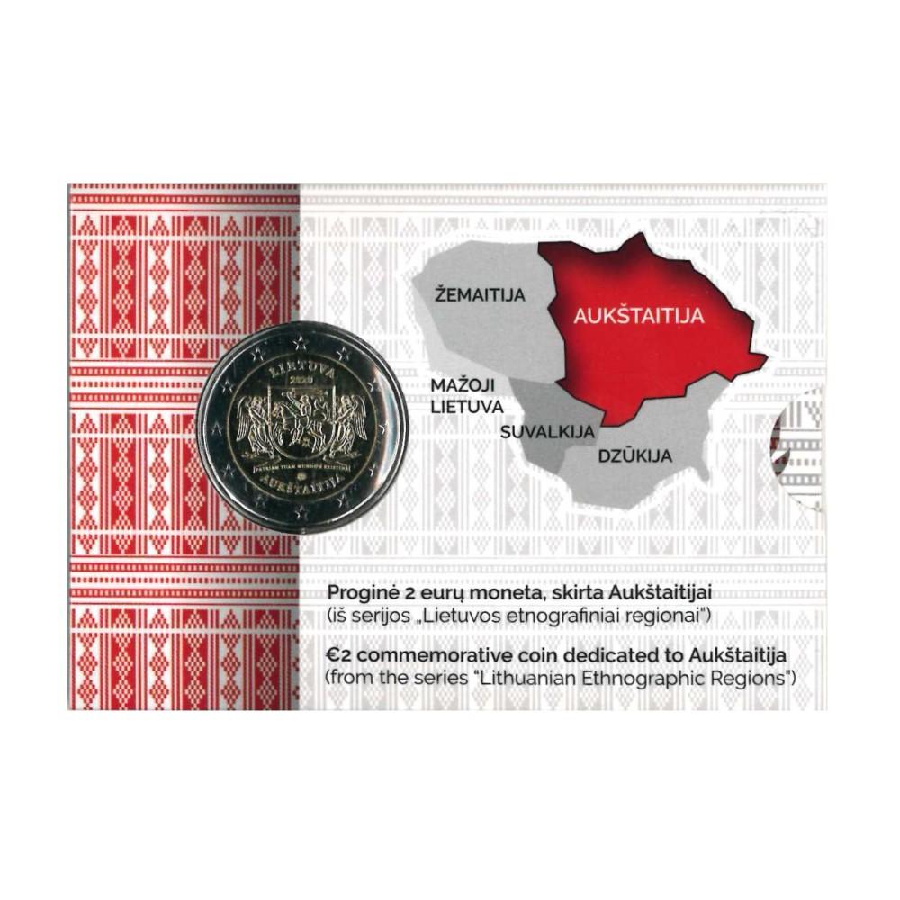Litouwen Coincard 2 Euro 2020 'Aukštaitija'