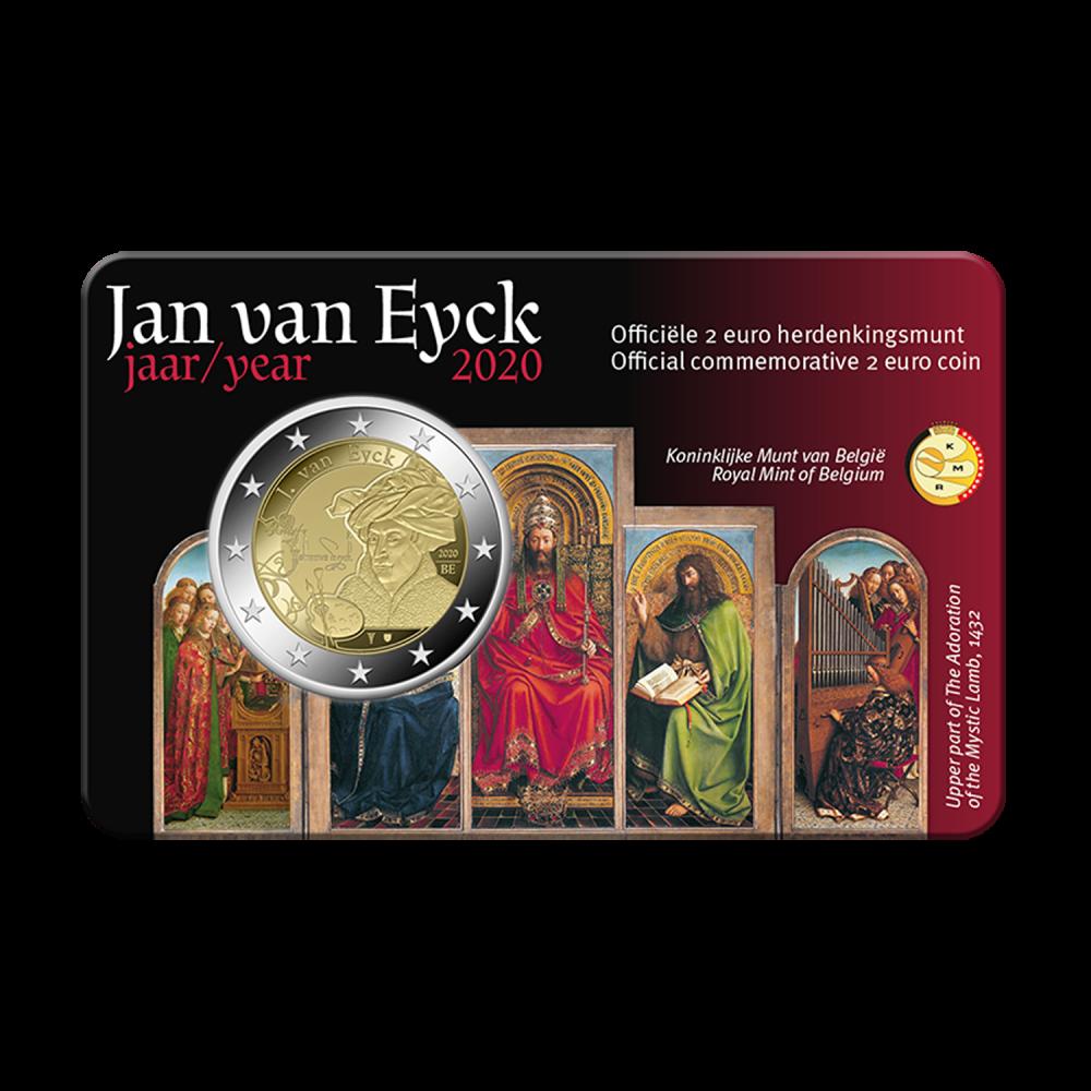 België 2 euro 2020 'Jan van Eyck' BU in coincard