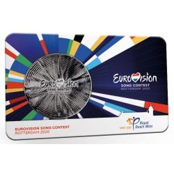 Nederland 65 jaar Eurovisie Songfestival penning in coincard