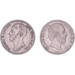 Halve gulden Willem II en Willem III