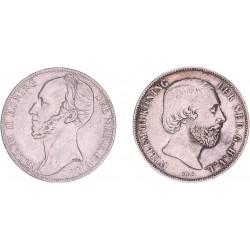 Gulden set Willem II en III