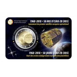 België 2 euro 2018 'ESRO-2B satelliet' BU in coincard