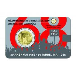 België 2 euro 2018 '50 jaar mei 1968' BU in coincard