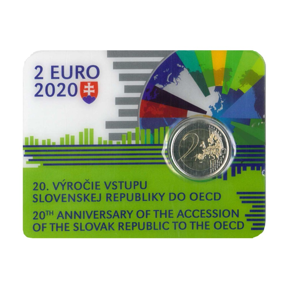 Slowakije Coincard 2 Euro 2020 'OECD'