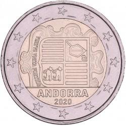 Andorra 2 euro 2020 'Wapen van Andorra' circulatiemunt