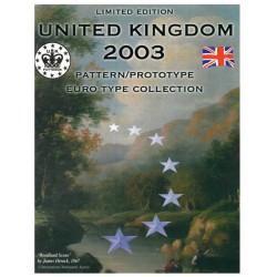 United Kingdom blister 1c t/m 2 E 2003