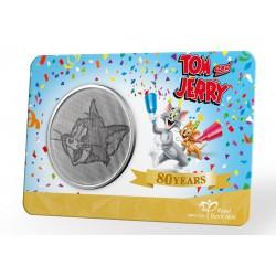 Nederland penning in coincard 2020 '80 jaar Tom & Jerry' Leverbaar maart 2021