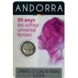 Andorra Coincard 2 Euro 2020 '50 Jaar Vrouwen Kiesrecht'