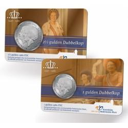 Nederland coincards 'Dubbelkop' met originele 1 en 2,5 gulden 1980. Uitverkocht