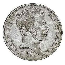 Koninkrijksmunten Nederland 1 gulden 1824 U