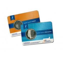 Nederland set van laatste gulden en rijksdaalder uit 2001 UNC in coincard