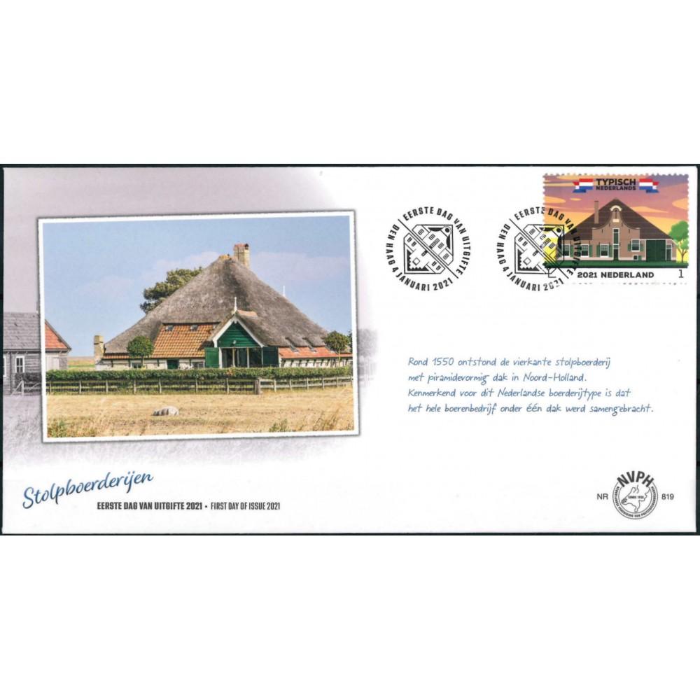 2021 Nederland FDC   Typisch Nederlands - Stolpboerderijen