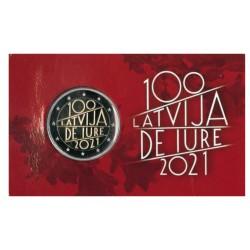 Letland 2 Euro 2021 '100 Jaar Erkenning Letland' in coincard